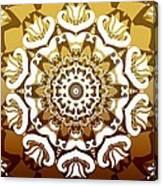 Coffee Flowers 10 Calypso Ornate Medallion Canvas Print