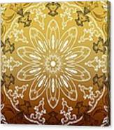 Coffee Flowers 11 Calypso Ornate Medallion Canvas Print