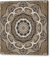 Coffee Flowers 2 Ornate Medallion Canvas Print