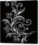 Coffee Flowers 4 Bw Canvas Print
