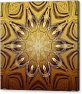 Coffee Flowers 4 Calypso Ornate Medallion Canvas Print