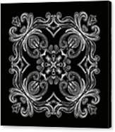 Coffee Flowers 6 Bw Ornate Medallion Canvas Print