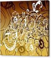Coffee Flowers 7 Calypso Canvas Print