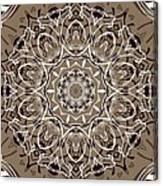 Coffee Flowers 7 Ornate Medallion Canvas Print