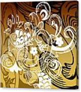Coffee Flowers 8 Calypso Canvas Print
