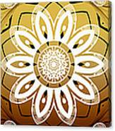 Coffee Flowers Medallion Calypso Triptych 2  Canvas Print