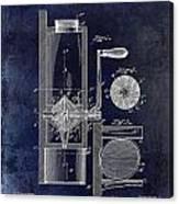 Coffee Mill Patent 1893 Blue Canvas Print