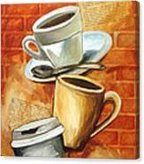 Coffee Over Shannara Canvas Print