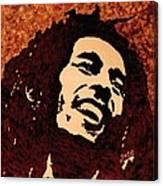 Coffee Painting Bob Marley Canvas Print
