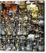 Coffee Pots At The Grand Bazaar In Istanbul Turkey Canvas Print