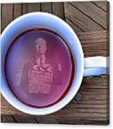 Coffee With A Psycho Canvas Print