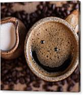 Coffee With A Smile Canvas Print