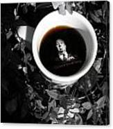 Coffee With Alfred Canvas Print