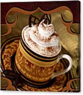 Coffee With Whipped Topping And Chocolates Canvas Print