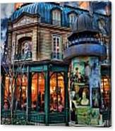 Coffeehouse - Belle Soiree Au Cafe II Canvas Print