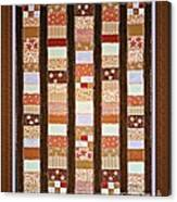 Coin Quilt -  Painting - Brown And White Patches Canvas Print