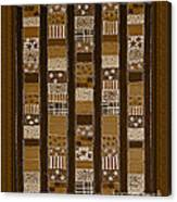 Coin Quilt - Painting - Sepia Patches Canvas Print