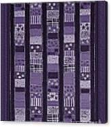 Coin Quilt -quilt Painting - Purple Patches Canvas Print
