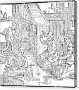 Coiners, 1577 Canvas Print