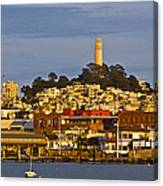 Coit Tower Golden Hour Canvas Print