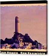 Coit Tower Poster Canvas Print