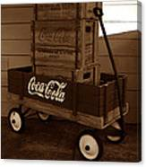 Coke Wagon Canvas Print