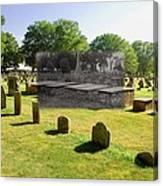 Col. Benjamin Church And Elisabeth Pabodie Gravesites In Little Compton Ri Canvas Print