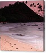 Cola Beach Sunset Canvas Print