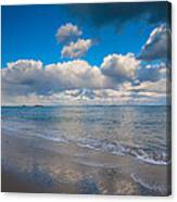 Cold And Windy Beach Day Canvas Print
