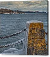 Cold Day On Superior Canvas Print