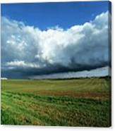 Cold Front Storm Clouds Over Fields Canvas Print