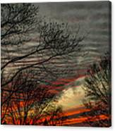 Cold Front Sunset Canvas Print