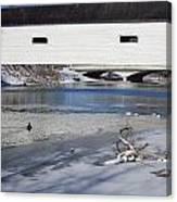 Cold January Morning At The Bridge Canvas Print
