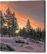 Cold Morning Canvas Print