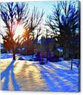 Cold Morning Sun Canvas Print