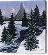 Cold Mountain Brook Canvas Print