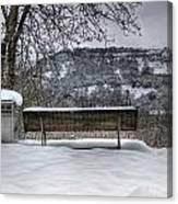 Cold Seat With A View 2 Canvas Print