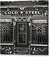 Cold Steel Bw Canvas Print