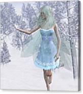 Cold Winter Fairy Canvas Print