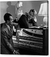 Cole Porter And Moss Hart At A Piano Canvas Print