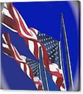 Collage Half Mast Flag Honoring President Ronald Reagan Number 2 Casa Grande Az  2004-2013 Vignetted Canvas Print