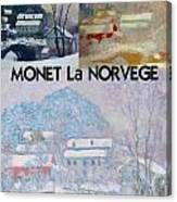 Collage Of Monet's Norwegian Works Canvas Print