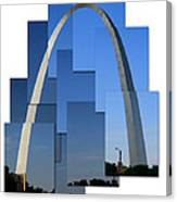 Collage Of St Louis Arch Canvas Print