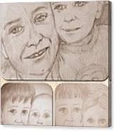 Collage Portraits Canvas Print
