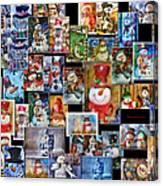Collage Snowman Horz Photo Art Canvas Print