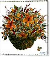 Collage With Wild Flowers Canvas Print