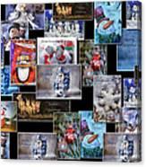 Collage Xmas Cards Horz Photo Art Canvas Print