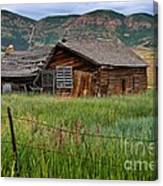 Collapsed Log House In Utah Canvas Print