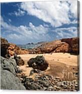 Collapsed Natural Bridge Aruba Canvas Print