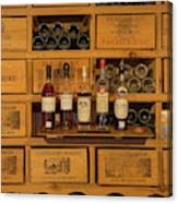 Collection Of Wines And Armagnac Canvas Print